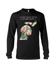 A Nurse cannot survive on wine alone Long Sleeve Tee thumbnail