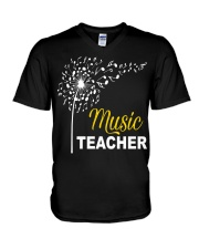 Music Teacher V-Neck T-Shirt thumbnail