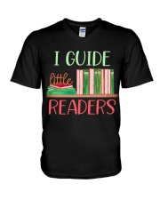 I GUIDE LITTLE READERS V-Neck T-Shirt tile