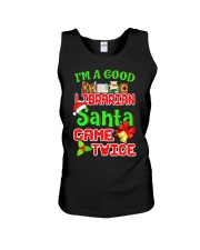 I'M A GOOD LIBRARIAN SANTA CAME TWICE Unisex Tank thumbnail