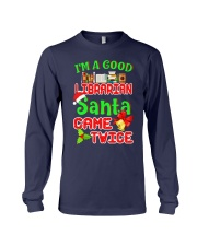 I'M A GOOD LIBRARIAN SANTA CAME TWICE Long Sleeve Tee thumbnail