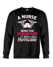 A Nurse Being a sunshine mixed Crewneck Sweatshirt thumbnail