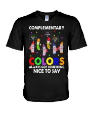 COMPLEMENTARY COLORS ALWAYS GOT SOMETHING  V-Neck T-Shirt thumbnail