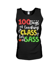 100 DAYS OF TEACHING MY CLASS WITH A LOT OF SASS Unisex Tank thumbnail