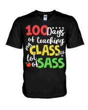 100 DAYS OF TEACHING MY CLASS WITH A LOT OF SASS V-Neck T-Shirt thumbnail