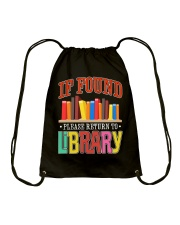IF FOUND LIBRARY Drawstring Bag thumbnail