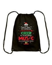THE BEST WAY TO SPREAD CHRISTMAS CHEER Drawstring Bag thumbnail