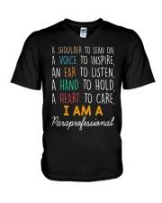 I am a Paraprofessional V-Neck T-Shirt thumbnail
