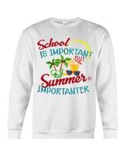 School is important But Summer Crewneck Sweatshirt thumbnail