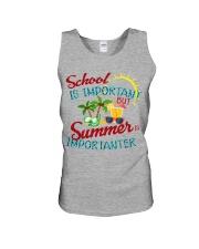 School is important But Summer Unisex Tank thumbnail
