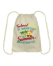 School is important But Summer Drawstring Bag thumbnail