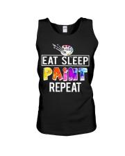 EAT SLEEP PAINT REPEAT Unisex Tank thumbnail
