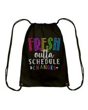 Fresh outta schedule changes Drawstring Bag thumbnail