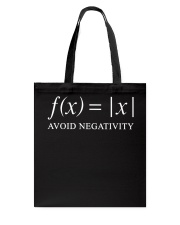 Avoid negativity Tote Bag front
