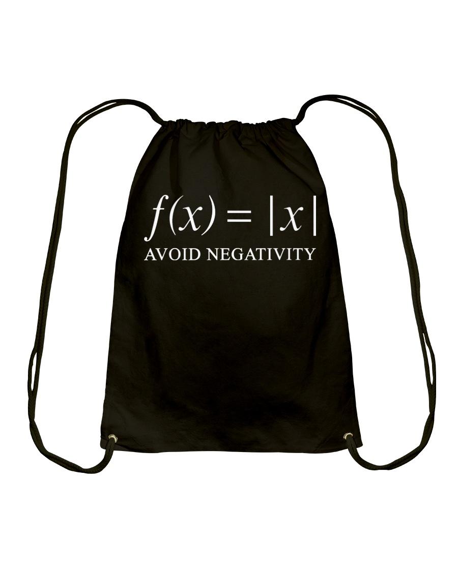 Avoid negativity Drawstring Bag