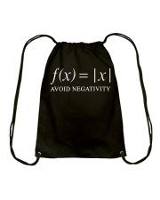 Avoid negativity Drawstring Bag thumbnail