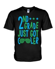 2nd grade cooler V-Neck T-Shirt tile