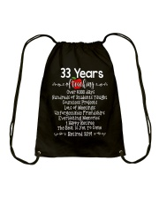33 years of Teaching Drawstring Bag tile