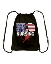 Happy 4TH of Nursing Drawstring Bag thumbnail