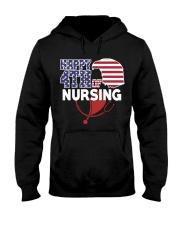 Happy 4TH of Nursing Hooded Sweatshirt thumbnail