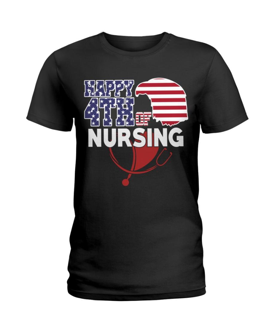 Happy 4TH of Nursing Ladies T-Shirt