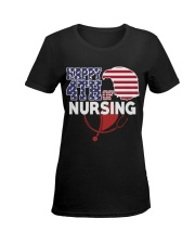 Happy 4TH of Nursing Ladies T-Shirt women-premium-crewneck-shirt-front
