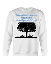 BOOKS ARE LIKE A TRUTH SERUM Crewneck Sweatshirt thumbnail