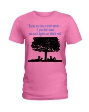 BOOKS ARE LIKE A TRUTH SERUM Ladies T-Shirt thumbnail