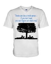 BOOKS ARE LIKE A TRUTH SERUM V-Neck T-Shirt thumbnail