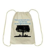 BOOKS ARE LIKE A TRUTH SERUM Drawstring Bag thumbnail