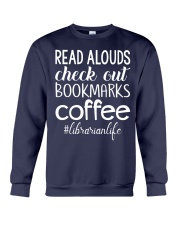 READ ALOUDS CHECK OUT BOOKMARKS COFFEE Crewneck Sweatshirt thumbnail