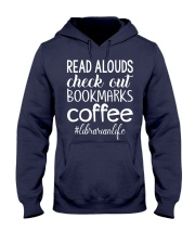 READ ALOUDS CHECK OUT BOOKMARKS COFFEE Hooded Sweatshirt thumbnail