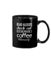 READ ALOUDS CHECK OUT BOOKMARKS COFFEE Mug thumbnail