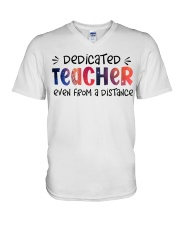 Dedicated Teacher V-Neck T-Shirt thumbnail
