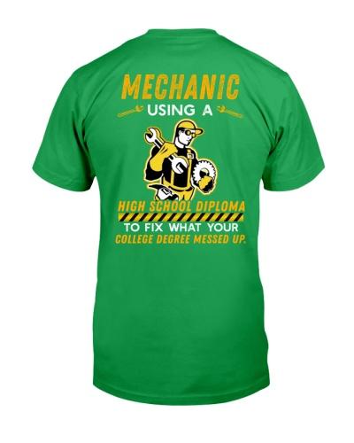 Mechanic using a High School