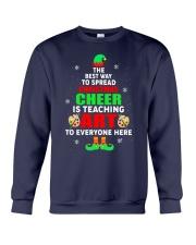 SPREAD CHRISTMAS CHEER IS TEACHING ART Crewneck Sweatshirt thumbnail