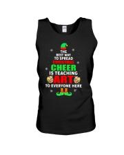 SPREAD CHRISTMAS CHEER IS TEACHING ART Unisex Tank thumbnail