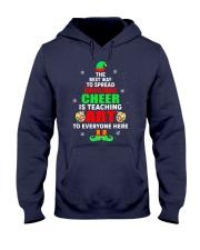 SPREAD CHRISTMAS CHEER IS TEACHING ART Hooded Sweatshirt thumbnail