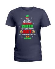 SPREAD CHRISTMAS CHEER IS TEACHING ART Ladies T-Shirt thumbnail