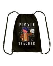 PIRATE TEACHER Drawstring Bag thumbnail