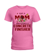 Just a Mom who raised a Concrete finisher Ladies T-Shirt tile