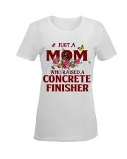 Just a Mom who raised a Concrete finisher Ladies T-Shirt women-premium-crewneck-shirt-front