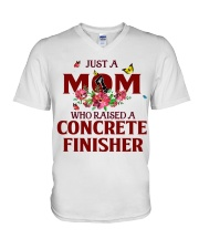 Just a Mom who raised a Concrete finisher V-Neck T-Shirt thumbnail