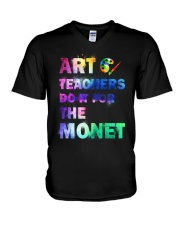 ART TEACHERS DO IT FOR THE MONET V-Neck T-Shirt thumbnail