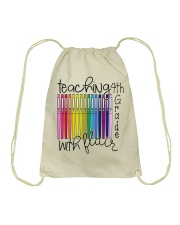 Teaching 4th Grade With Flair Drawstring Bag thumbnail