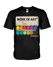 Work of art V-Neck T-Shirt tile