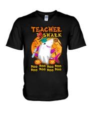 TEACHER SHARK BOO BOO BOO V-Neck T-Shirt thumbnail
