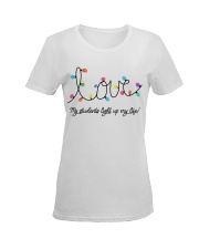 My students light up my life Ladies T-Shirt women-premium-crewneck-shirt-front
