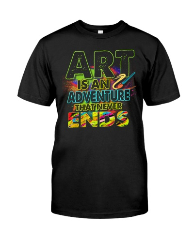 Art is an adventure that never ends