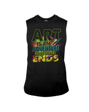 Art is an adventure that never ends Sleeveless Tee tile